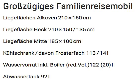 Familienreisemobil in  Schleswig-Holstein