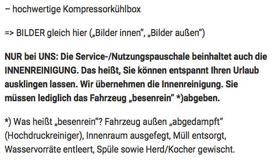 Wohnmobil Verleihung für  Deutschland
