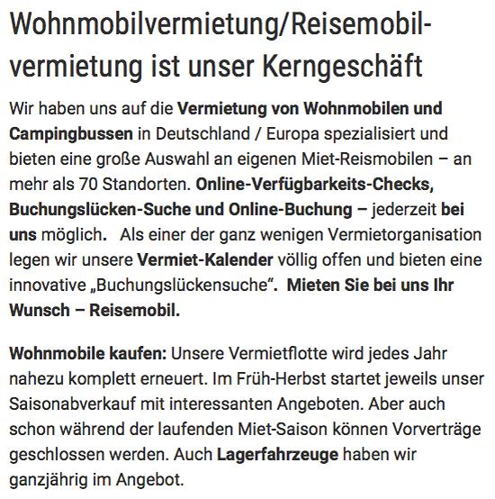 Wohnmobile günstig mieten für  Schleswig-Holstein, Elmshorn, Flensburg oder Neumünster