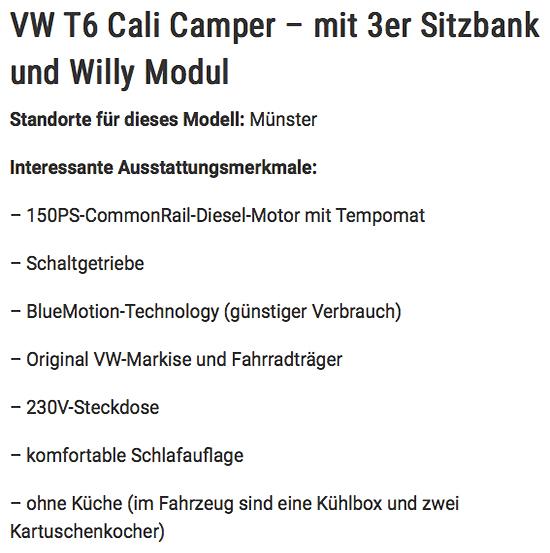 Wohnmobile mieten in Deutschland aus  Deutschland